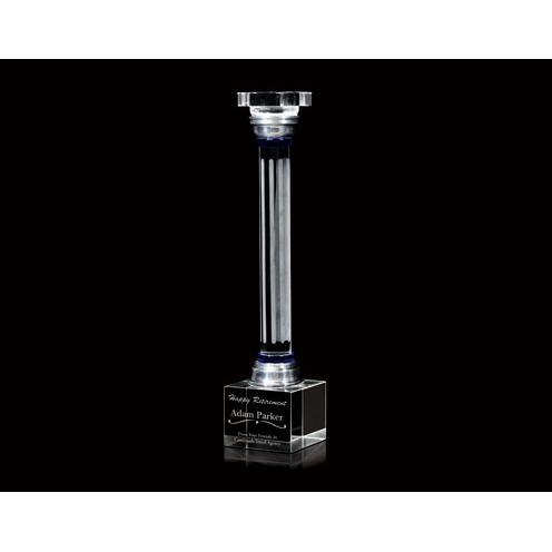 Optical Crystal Column Award with Square Base