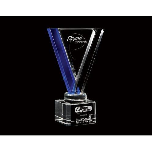 Cobalt Avatar Optical Crystal Award