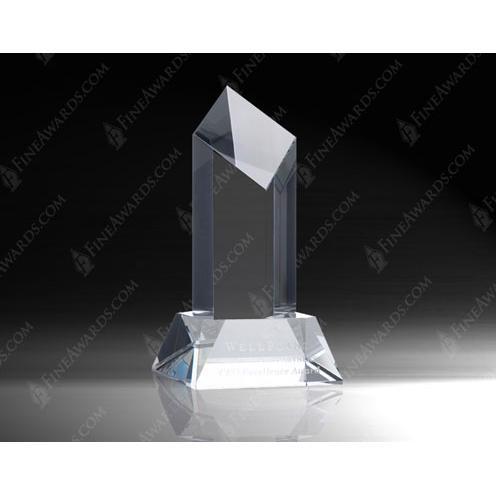 Crystal Diamond Tower Award w/Base