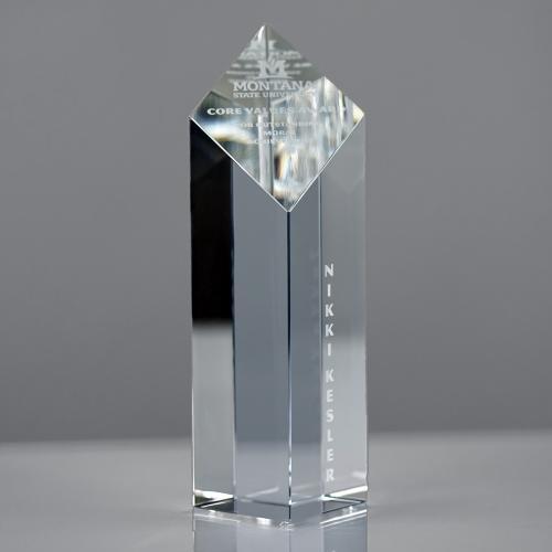 Diamond Optical Crystal Column Tower Award
