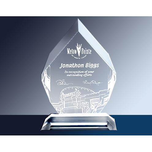 Royal Diamond Clear Glass Award
