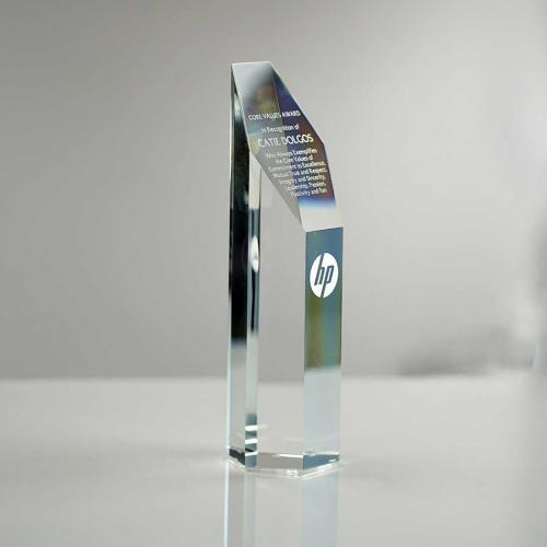 Optical Crystal Hexagon Tower Award