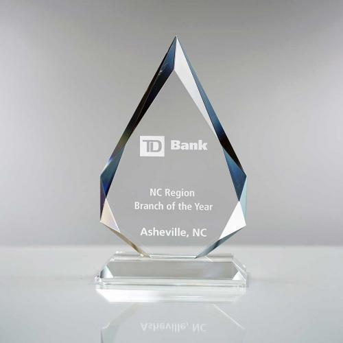 Prestige Clear Crystal Flame Award