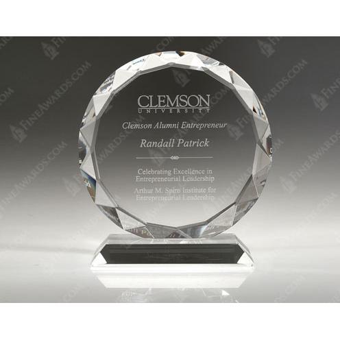 Clear Crystal Sunflower Award