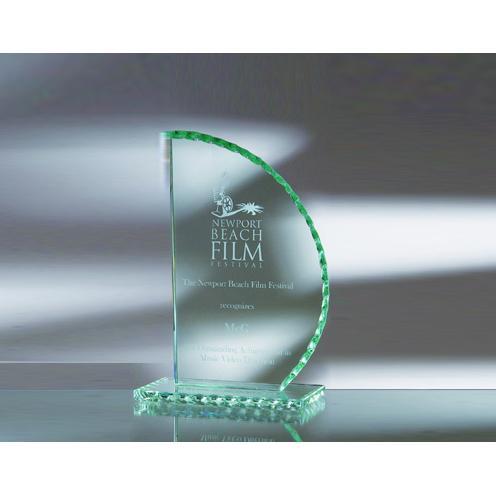 Green Jade Glass Sailing Award