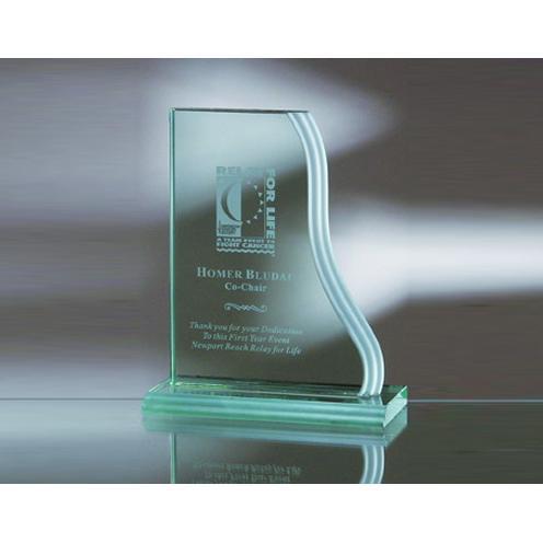 Green Jade Glass Vertical Wave Award