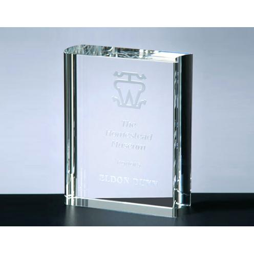 Clear Crystal Rectangle Book