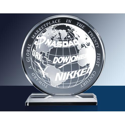 Clear Glass Circle Award