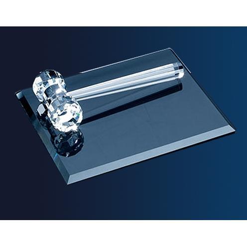 Clear Optical Crystal Gavel
