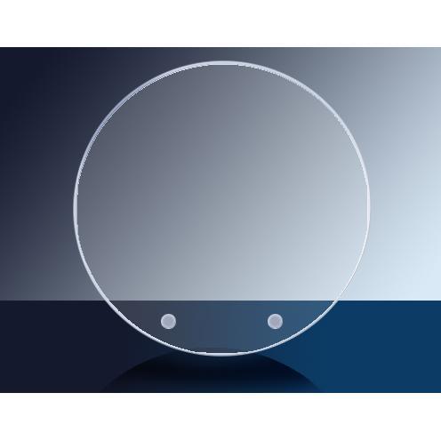 Cantebury Clear Glass Circle Award