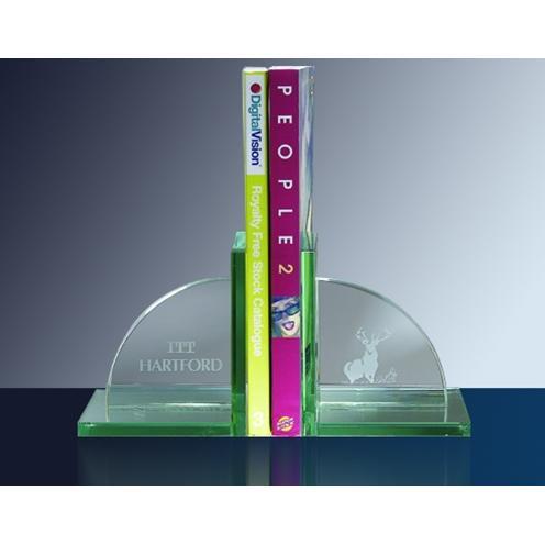 Green Jade Glass Book End