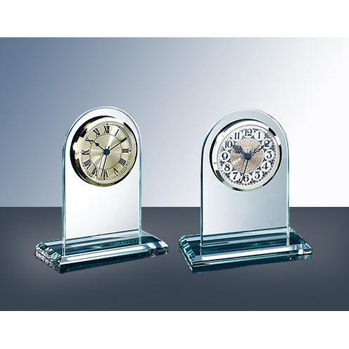 Green Jade Glass Arch Clock