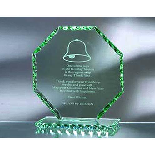 Green Jade Glass Octagon Award