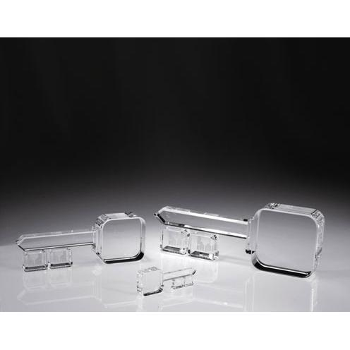 Clear Optical Crystal Key Paperweight