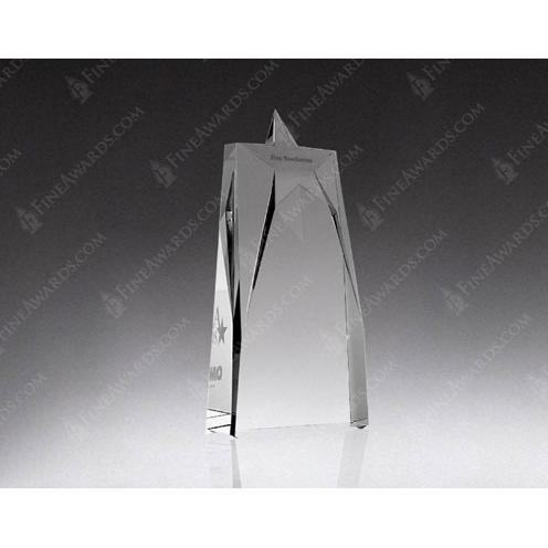 Supreme Clear Optical Crystal Star Tower Award