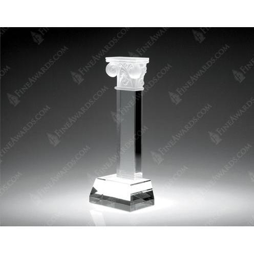 Clear Crystal Pillar of Success Award