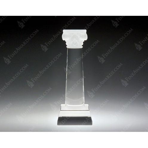 Clear Crystal Column of Success Award