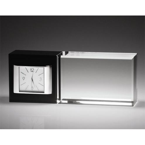 Best Wishes Optical Crystal Horizontal Clock