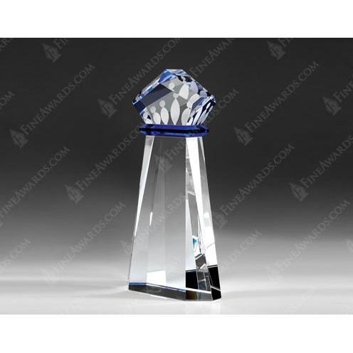 Clear Crystal Achievement Crown Award