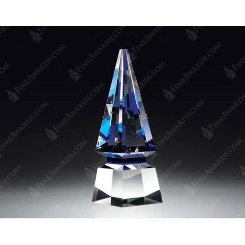 Blue Crystal Triangle Spire Award