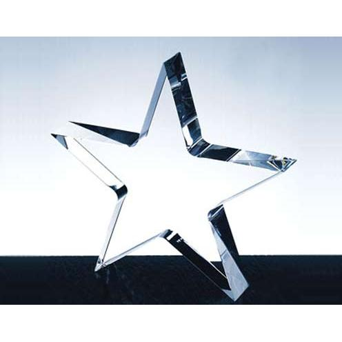 Clear Crystal Flat Star Paperweight
