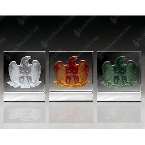 Customizable Colors Crystal Majestic Eagle Award