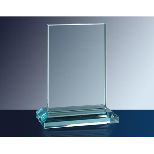 Clear Vertical Rectangle Glass Plaque