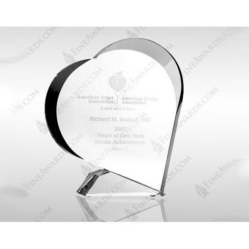 Clear Crystal Giving Heart Award