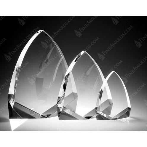 Cathedral Clear Crystal Flame Award