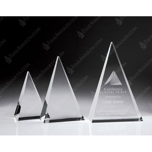 Clear Crystal Triangle Plaque