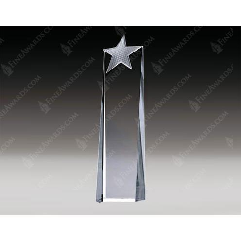Clear Crystal Metal Star Award with Aluminum Accent
