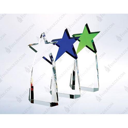 Multi Color Crystal Triumph Star Award