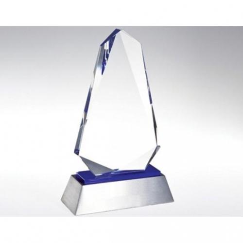 Clear & Blue Optical Crystal Inspiration Award
