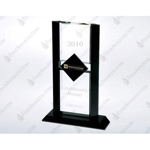 Black & Clear Crystal Ebony Diamond Award