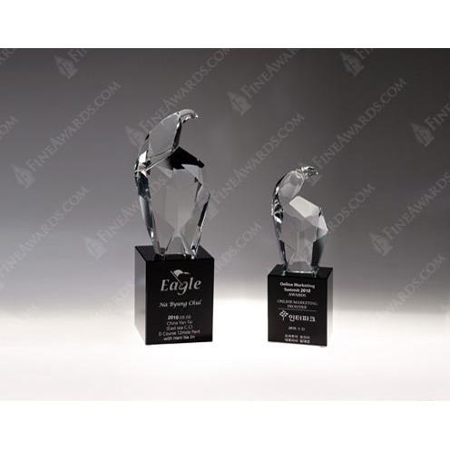 Crystal Eagle Head Award on Black Base