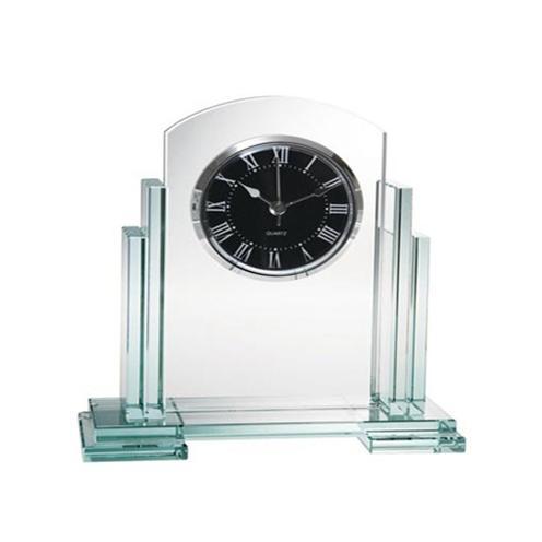 Jade Glass Caesar Circular Clock
