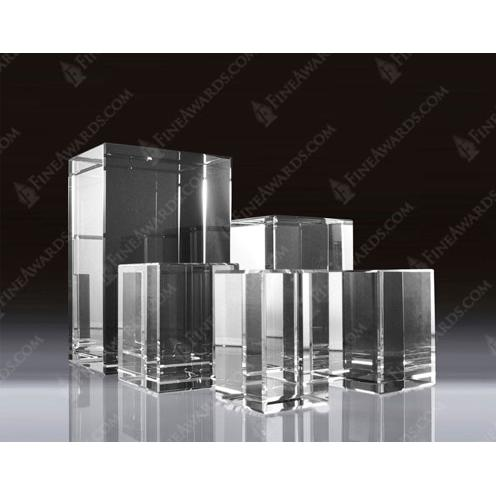 Large Clear Crystal 3D Rectangle Awards